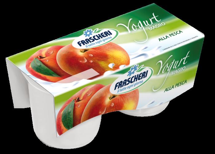 Light yogurt peach
