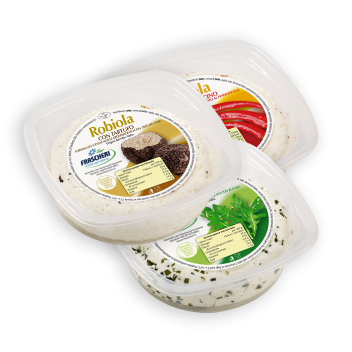 Flavored robiola cheese