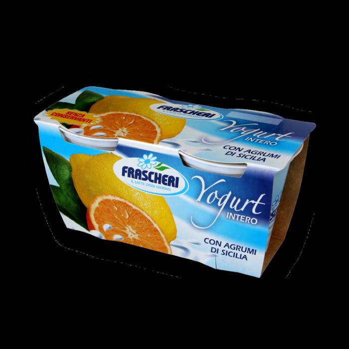 Yogurt intero agli agrumi di sicilia Frascheri