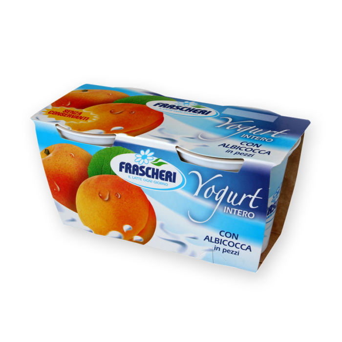 Full fat yogurt with apricot in pieces