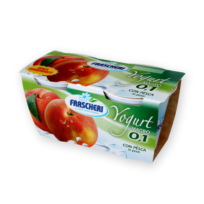 Peach flavored low fat yogurt Frascheri