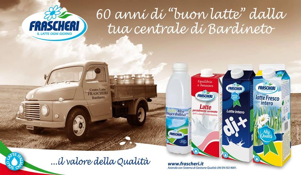 """60 anni di """"buon latte"""", 60 anni di Frascheri"""