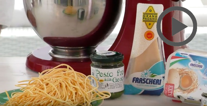 In cucina con Frascheri  – Taglierini al pesto