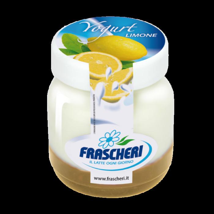 Yogurt intero con preparato a base di limone
